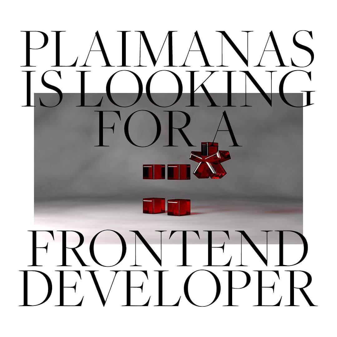 We are looking for a frontend developer.
